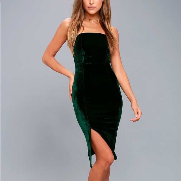 889dad2c77a3 Lulu's Dresses & Skirts - ⭐️FLASH SALE⭐ Lulu's Forest Green Velvet Dress